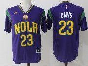 Mens Nba New Orleans Pelicans #23 Anthony Davis Purple Basketball Jerseys