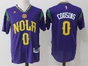 Mens Nba New Orleans Pelicans #0 Demarcus Cousins Purple Basketball Jerseys