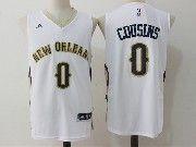Mens Nba New Orleans Pelicans #0 Demarcus Cousins White Basketball Jerseys