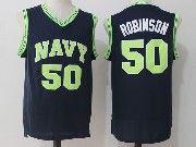 Mens Ncaa Nba San Antonio Spurs #50 David Robinson Dark Blue Naval Academy Navy Midshipmen College Basketball Jersey