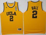 Mens Ncaa Nba Ucla Bruins #2 Lonzo Ball Yellow College Basketball Authentic Jersey