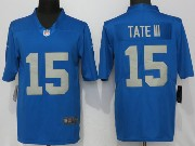 Mens Nfl Detroit Lions #15 Golden Tate 2017 Throwback Vapor Untouchable Limited Blue Jersey