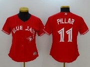 Women Mlb Toronto Blue Jays #11 Kevin Pillar New Red Cool Base Jersey