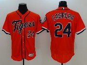 Mens Mlb Detroit Tigers #24 Miguel Cabrera Orange Flex Base Jersey