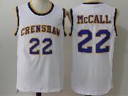 Mens Nba Movie Crenshaw High School Love&basketball #22 Quincy Mccall White Jersey
