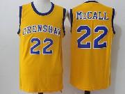 Mens Nba Movie Crenshaw High School Love&basketball #22 Quincy Mccall Yellow Jersey