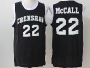 Mens Nba Movie Crenshaw High School Love&basketball #22 Quincy Mccall Black Jersey