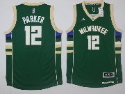 Mens Nba Milwaukee Bucks #12 Jabari Parker Green Road Jersey