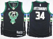 Mens Nba Milwaukee Bucks #34 Giannis Antetokounmpo Black Fashion Jersey