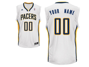 Mens Women Youth Nba Indiana Pacers Custom Made White Home Jersey