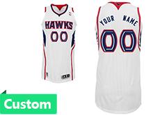 Mens Women Youth Nba Atlanta Hawks Custom Made White Jersey