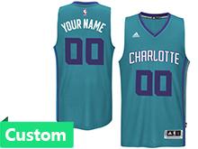 Mens Women Youth Nba Charlotte Hornets (custom Made) Teal Revolution 30 Mesh Jersey