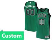 Mens Women Youth Nba Boston Celtics Custom Made Green Black Number Jersey