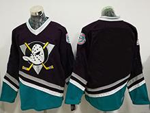 Mens Ccm Nhl Anaheim Mighty Ducks Blank Black Throwback Jersey