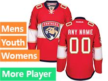 Mens Women Youth Reebok Florida Panthers Red Home 2016 Premier Current Player Jersey