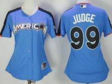 Women New York Yankees #99 Aaron Judge 2017 Mlb All Star Game American Light Blue Cool Bass Jersey
