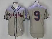 Mens Mlb Movie Knights #9 Gray Jersey