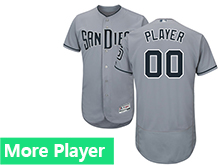 Mens Majestic San Diego Padres Gray Flex Base Current Player Jersey