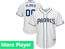 Mens Womens Youth Majestic San Diego Padres 2017 White Cool Base Current Player Jersey