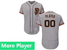 Mens Majestic San Francisco Giants Gray Flex Base Current Player Jersey