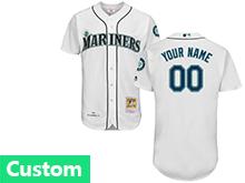 Mens Mlb Seattle Mariners Custom Made White Throwbacks Jersey