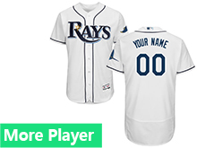 Mens Mlb Majestic Tampa Bay Rays White Flex Base Current Player Jersey