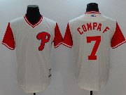 Mens Majestic Philadelphia Phillies #7 Compaf White 2017 Players Weekend Jersey