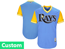 Mens Majestic Mlb Tampa Bay Rays Custom Made Light Blue 2017 Players Weekend Authentic Team Jersey