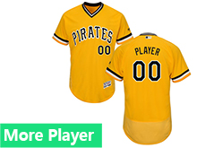 Mens Majestic Pittsburgh Pirates Gold Flex Base Current Player Jersey