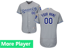 Mens Majestic Kansas City Royals Gray Flex Base Current Player Jersey