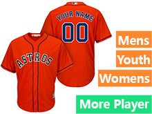 Mens Womens Youth Majestic Houston Astros Orange Cool Base Current Player Jersey