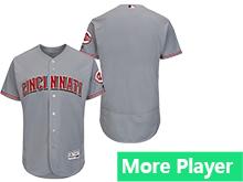 Mens Majestic Cincinnati Reds Gray Flex Base Current Player Jersey