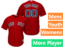 Mens Womens Youth Majestic Boston Red Sox Red Cool Base Current Player Jersey