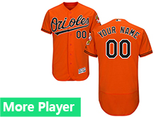 Mens Majestic Baltimore Orioles Orange Flex Base Current Player Jersey