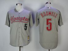 Mens Majestic Pittsburgh Pirates #5 Jeff Bagwell Gray Turn Back Jersey