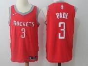 Mens Nba Houston Rockets #3 Chris Paul Red Road Nike Jersey