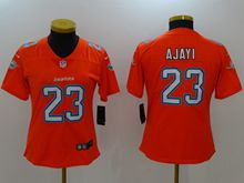 Women Nfl Miami Dolphins #23 Ajayi Orange Vapor Untouchable Limited Jersey