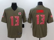 Mens Nfl Tampa Bay Buccaneers #13 Mike Evans Green Olive Salute To Service Limited Nike Jersey