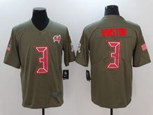 Mens Youth Nfl Tampa Bay Buccaneers #3 Jameis Winston Green Olive Salute To Service Limited Nike Jersey