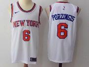Mens Nba New York Knicks #6 Kristaps Porzingis White Nike Jersey