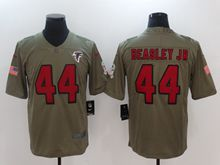 Mens Nfl Atlanta Falcons #44 Vic Beasley Green Olive Salute To Service Limited Nike Jersey