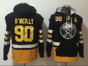 Mens Nhl Buffalo Sabres #90 Ryan O'reilly Dark Blue One Front Pocket Hoodie Jersey