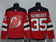 Mens Nhl New Jersey Devils #35 Cory Schneider Red Adidas Jersey