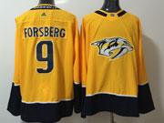 Mens Nhl Nashville Predators #9 Filip Forsberg Gold Adidas Jersey