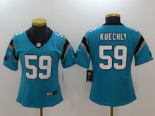 Women Nfl Carolina Panthers #59 Luke Kuechly Blue Vapor Untouchable Elite Player Nike Jersey