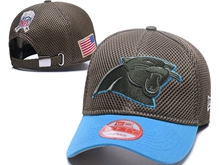 Mens Nfl Carolina Panthers Black Peaked Caps