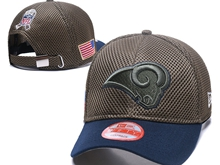 Mens Nfl Los Angeles Rams Black Peaked Caps