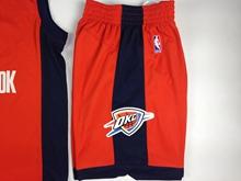 Mens Nba Oklahoma City Thunder Orange Shorts