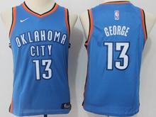 Youth Oklahoma City Thunder #13 Paul George Blue Swingman Nike Jersey