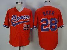 Ncaa Mens Mlb Detroit Tigers #28 Beer Orange Cool Base Jersey